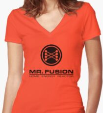 Mr. Fusion Women's Fitted V-Neck T-Shirt