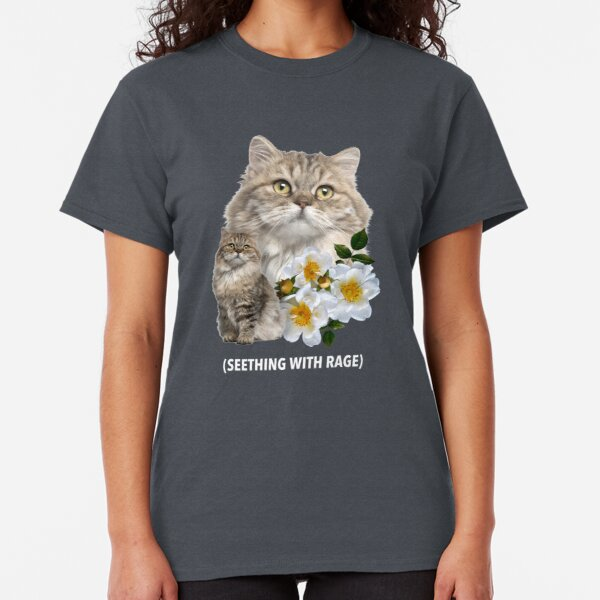 Funny Cat Seething with Rage Sarcastic Kitty Classic T-Shirt