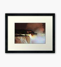 Niagara at Night! Framed Print