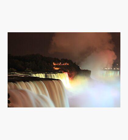 Niagara at Night! Photographic Print
