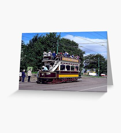 Old Tram at Beamish Museum Greeting Card