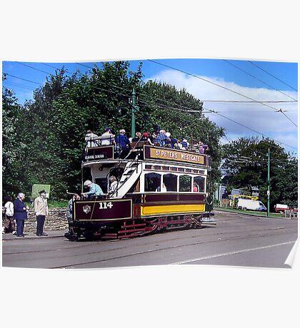 Old Tram at Beamish Museum Poster