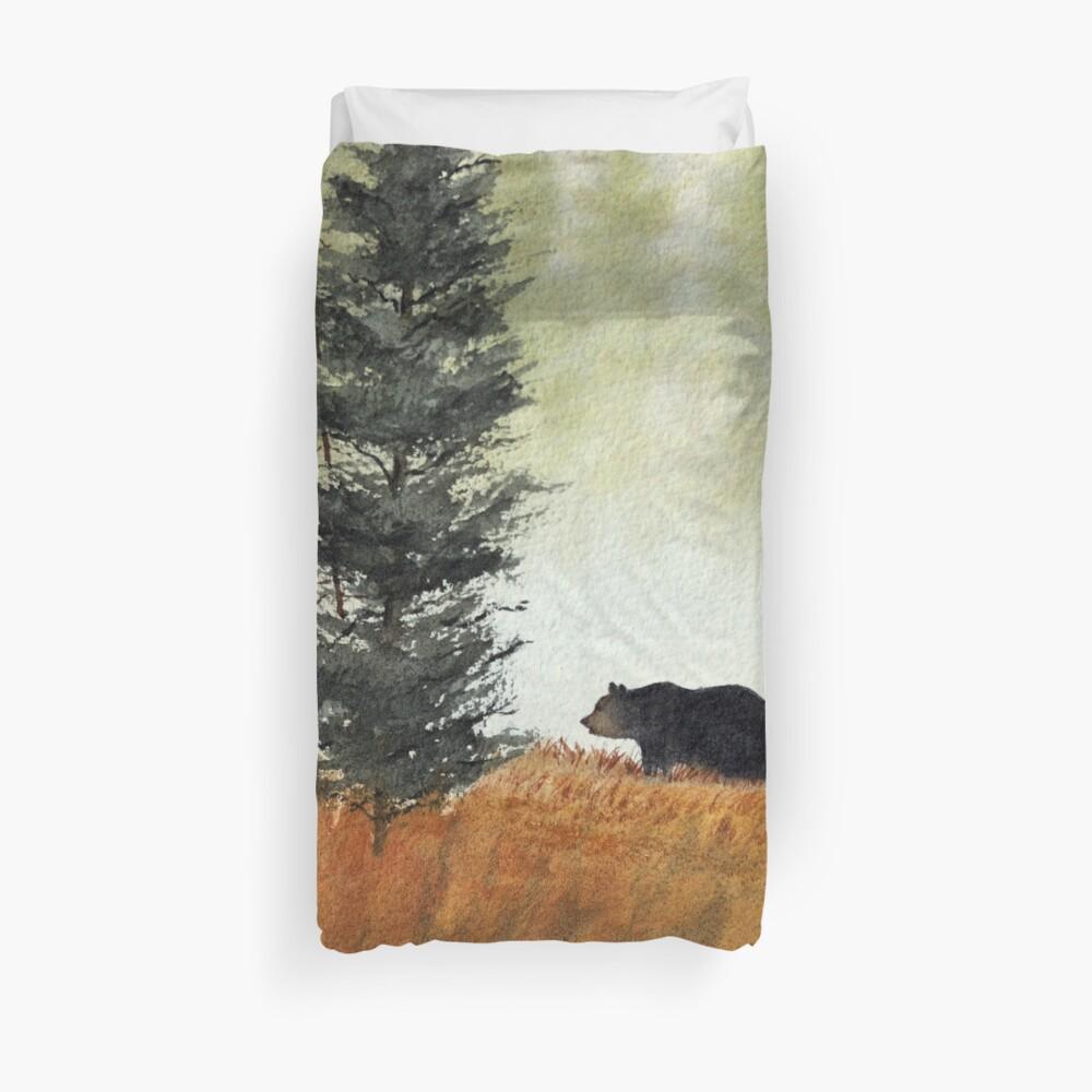 Roaming Bears In West Virginia Duvet Cover