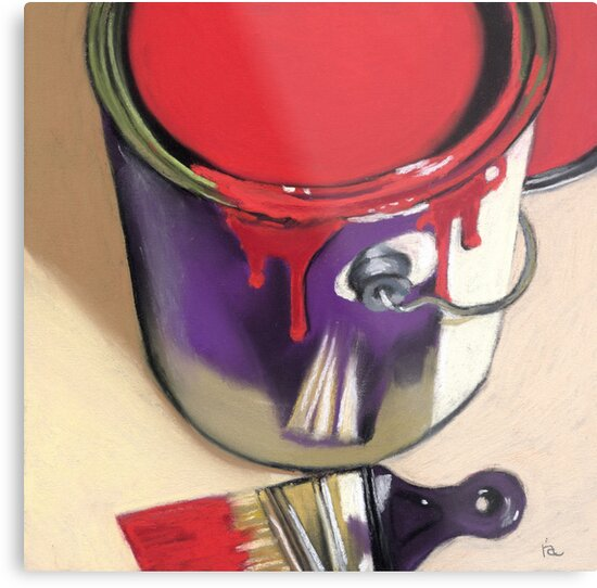 red paint can by ria hills