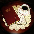 Reading With Coffee by Linda Miller Gesualdo