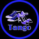 Blue and Purple Tango Shoes in Blue Circle by infinitetango