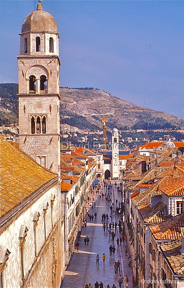 Dubrovnik Main Street by David Davies