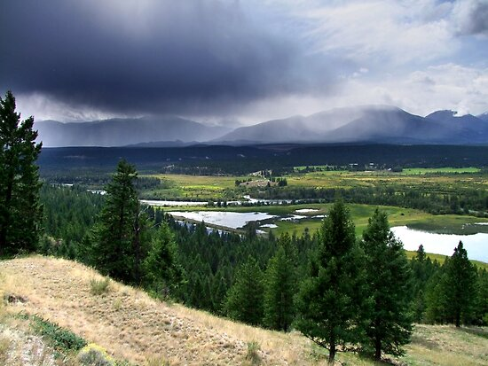Thunderstorm ,Kootenay Mountains by George Cousins