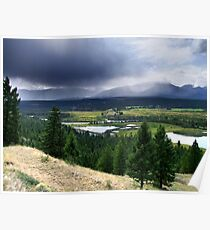 Thunderstorm ,Kootenay Mountains Poster