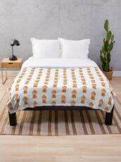 little buddha pattern Throw Blanket
