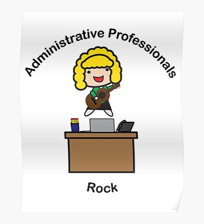 Administrative Professionals Rock (Blonde) Poster