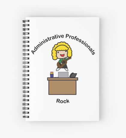 Administrative Professionals Rock (Blonde) Spiral Notebook
