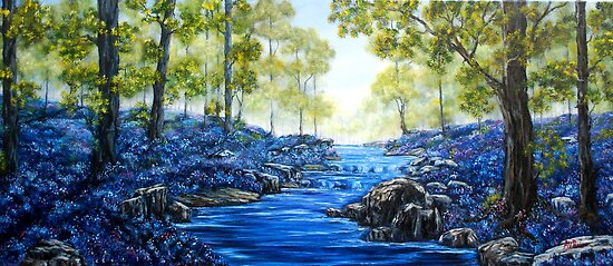 """""""Blue Woods"""" - Oil Painting by Avril Brand"""