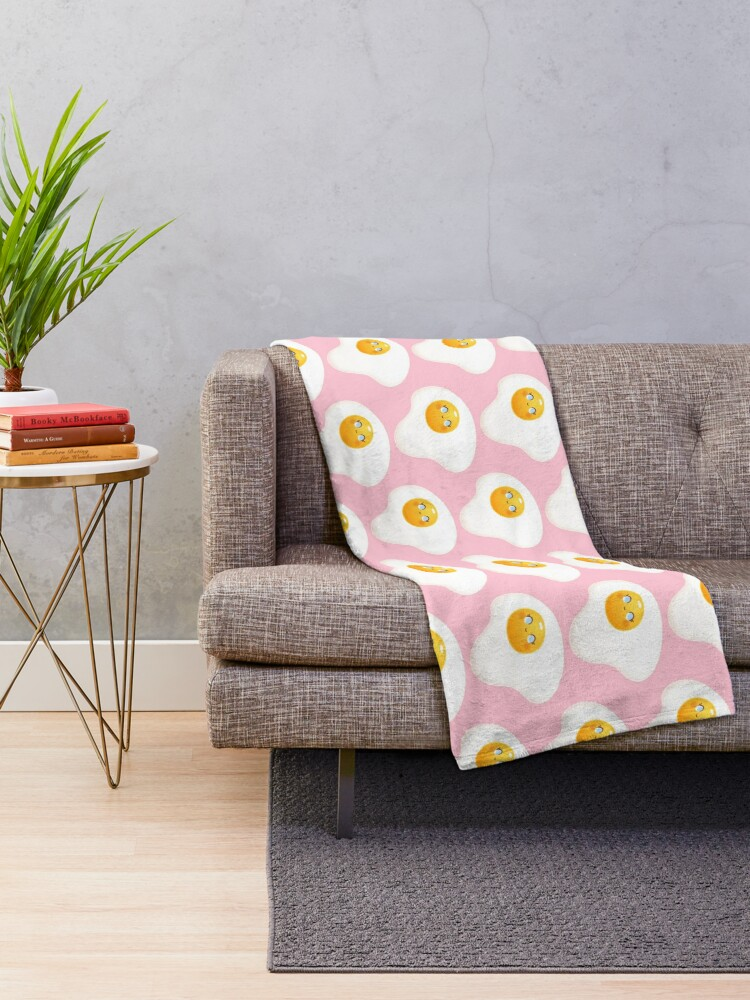 Alternate view of You're A Good Egg Throw Blanket