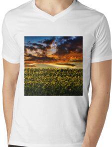 Sunflower Field Mens V-Neck T-Shirt