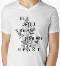 Törichtes Herz T-Shirt mit V-Ausschnitt
