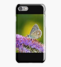 Silver-studded Blue Butterfly iPhone Case/Skin