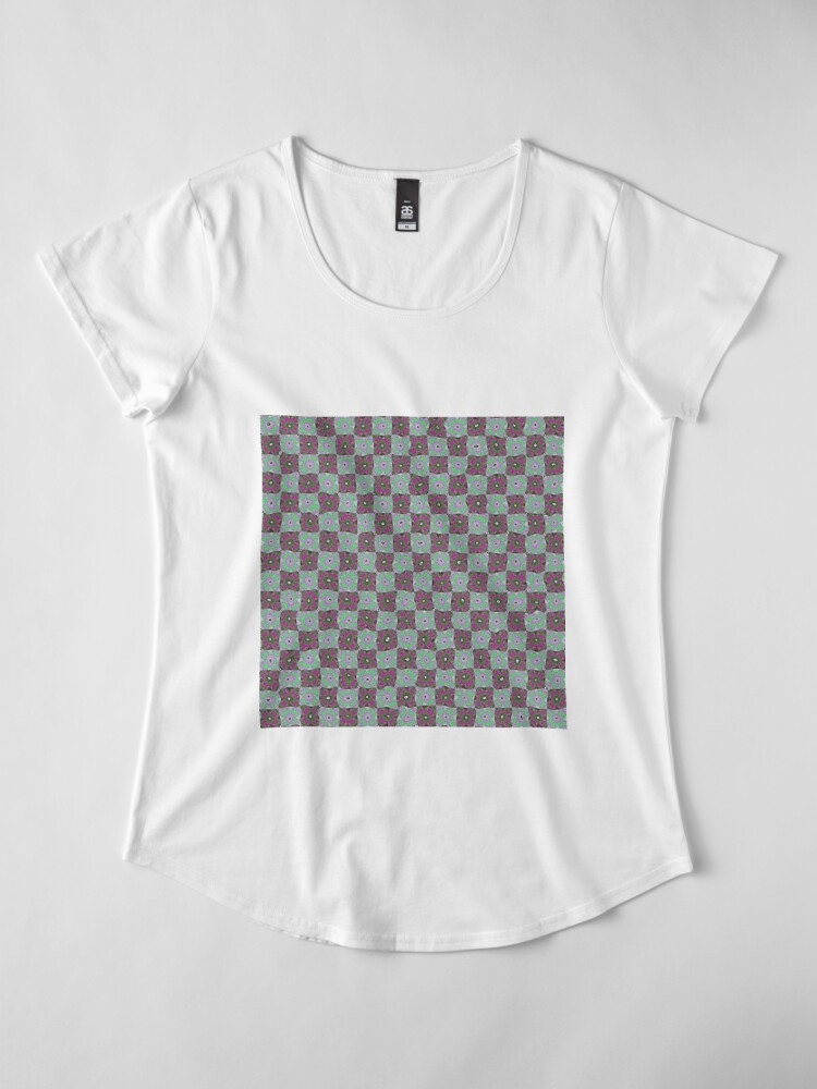 Alternate view of Op art - art movement, short for optical art, is a style of visual art that uses optical illusions Premium Scoop T-Shirt