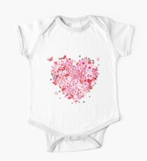 Beautiful floral heart Kids Clothes