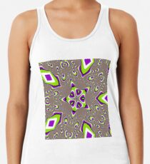 Op art - art movement, short for optical art, is a style of visual art that uses optical illusions Racerback Tank Top