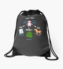 Baby Shower Gift: Baby Test Let Your Baby Pick Drawstring Bag