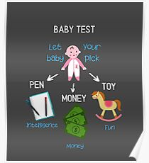 Baby Shower Gift: Baby Test Let Your Baby Pick Poster