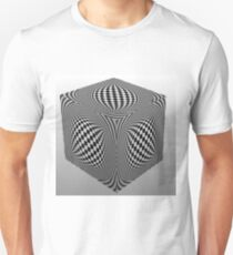 Op art - art movement, short for optical art, is a style of visual art that uses optical illusions Slim Fit T-Shirt