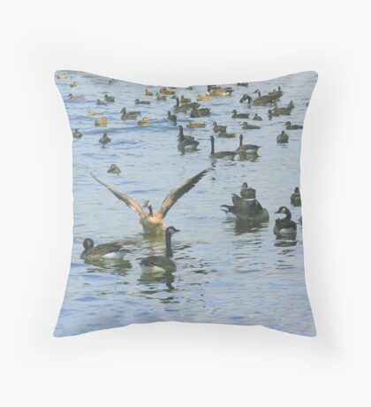 Now That I Have Your Attention Throw Pillow
