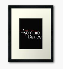 The Vampire Diaries - Logo Framed Print