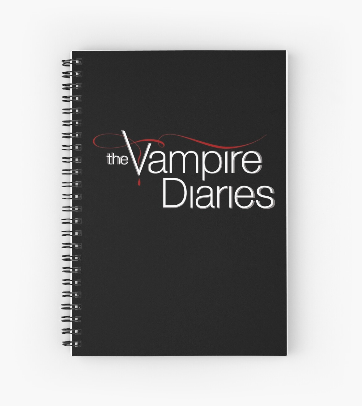 Designer Wall Stickers Quot The Vampire Diaries Logo Quot Spiral Notebooks By Virginie