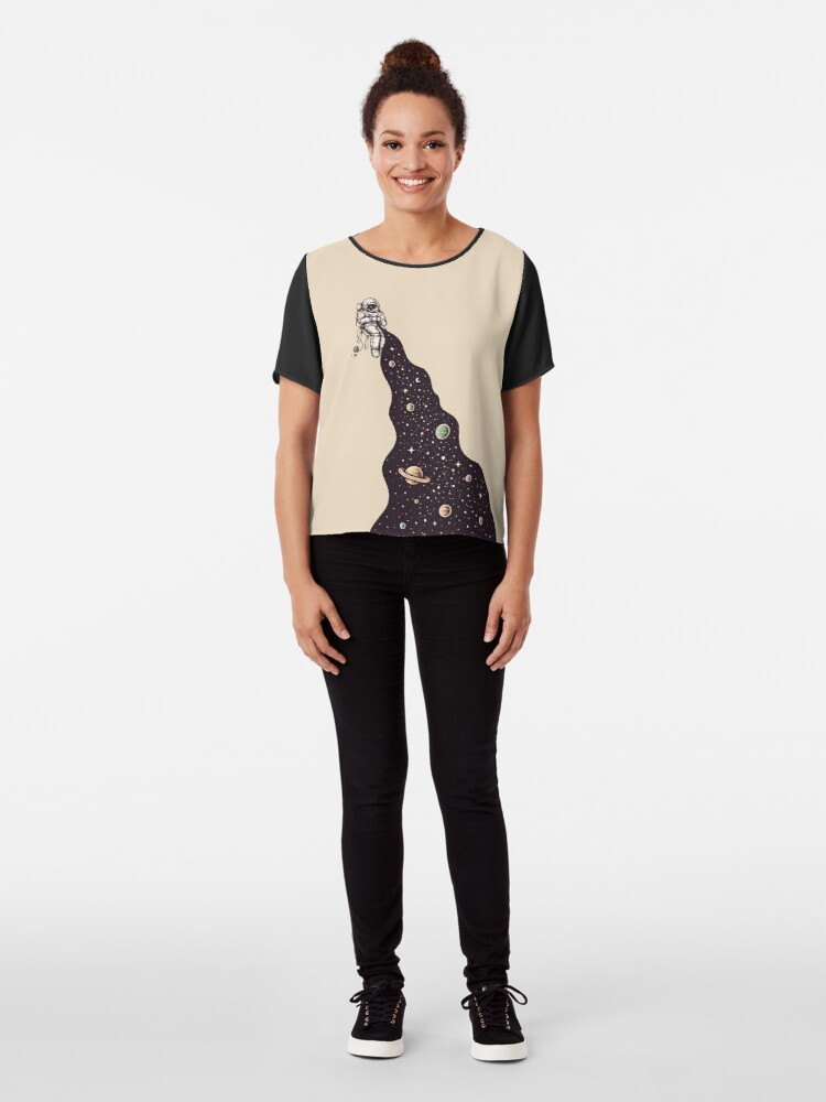 Alternate view of Universe is Knit Chiffon Top