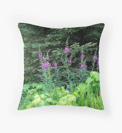 Fireweed Throw Pillow