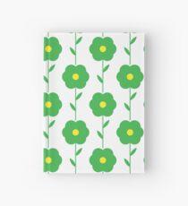 Grundlegende grüne Blume mit einem Stamm Notizbuch