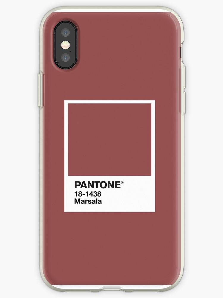 the best attitude 14702 6c1d8 'Marsala Pantone' iPhone Case by joaovictorprado