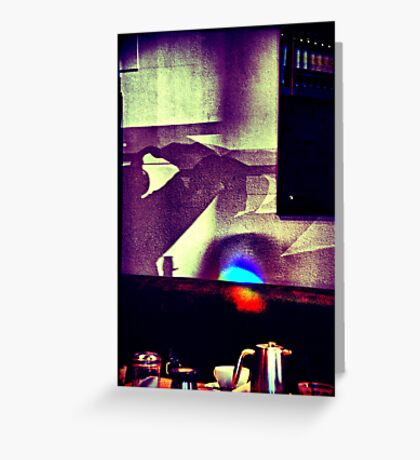 Café. Lomography Greeting Card