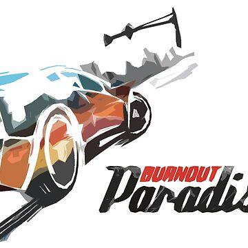 Burnout Paradise Watercolour by pudic