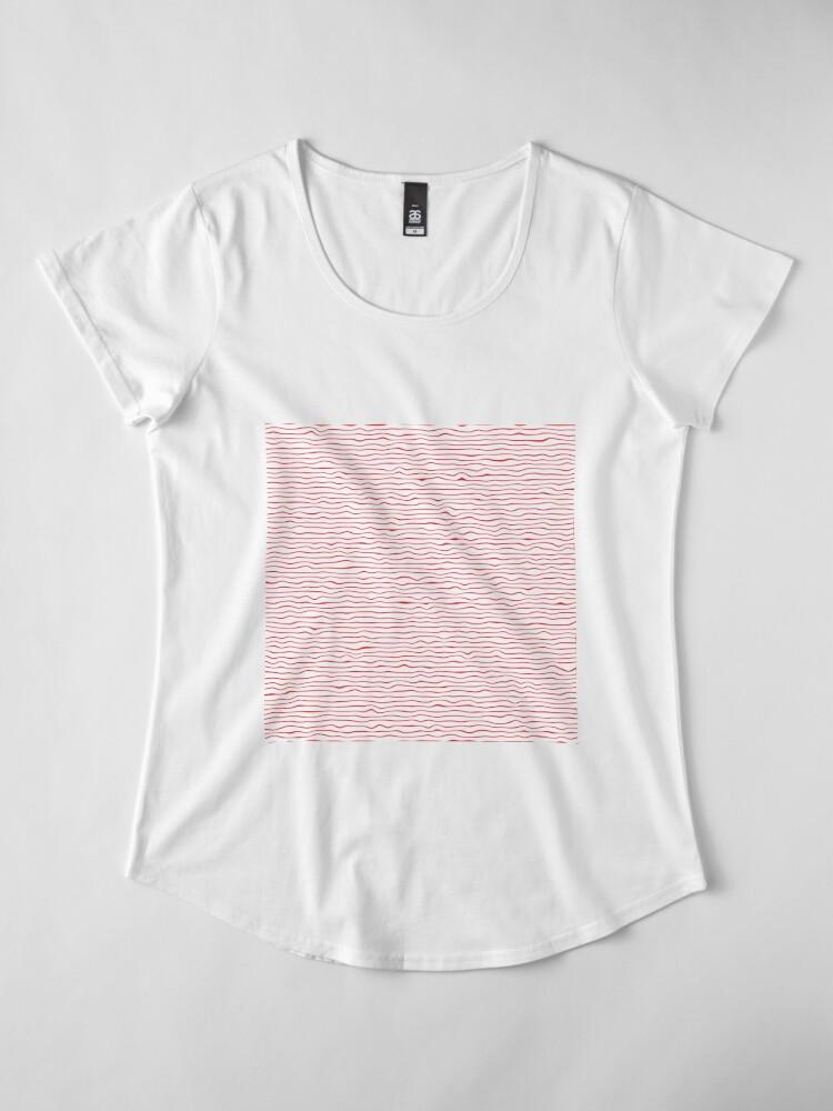 Alternate view of #Pattern, #Design, #Abstract, #Art, Illustration, Decoration, lines, stripes  Premium Scoop T-Shirt