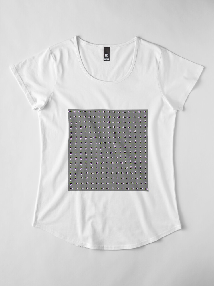 Alternate view of Optical illusion, #pattern, #abstract, #art, #design, shape, spiral, curve, decoration, futuristic, psychedelic Premium Scoop T-Shirt