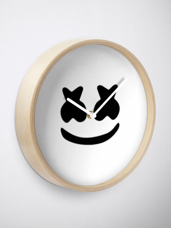 Alternate view of marshmello Clock