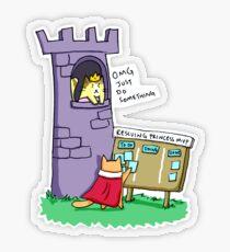 Princess Rescue MVP Transparent Sticker