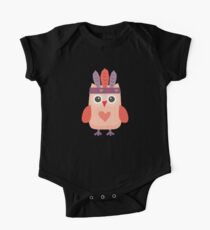 Hipster Owlet Purple One Piece - Short Sleeve