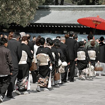 japanese wedding procession by Caprice