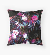 Roses of a Cyberdelic Night Throw Pillow