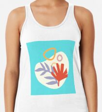 5    190617   Tropical Abstract Graphic Design Racerback Tank Top