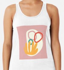 6    190617   Tropical Abstract Graphic Design Racerback Tank Top