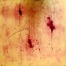 Gold and Red Abstract by Sonia Keshishian
