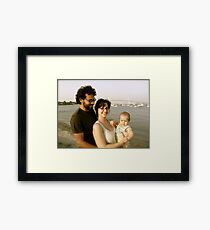 Lucas - Daddy - Mommy, See the Pell Bridge! Framed Print
