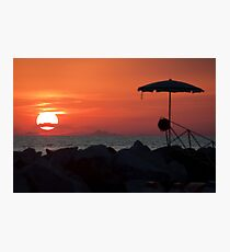 Sunset with mustache Photographic Print
