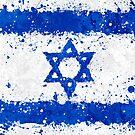 «Israel bandera acción pintura - Grunge desordenado» de Garyck Arntzen