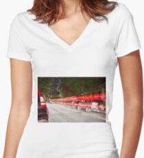 Long Exposure  Women's Fitted V-Neck T-Shirt